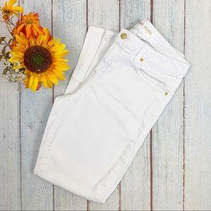 NWOT Michael Kors Izzy White Skinny Jeans
